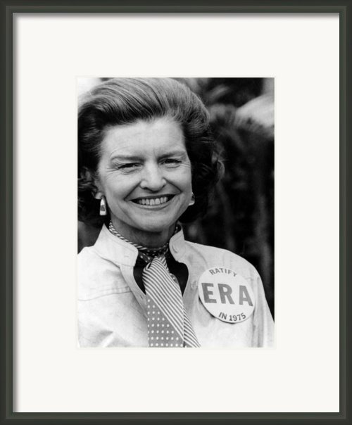 First Lady Betty Ford Wears A Badge Framed Print By Everett