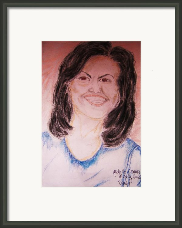 First Lady Framed Print By Beverly Howell