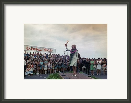 First Lady Campaigning In Hawaii. A Framed Print By Everett