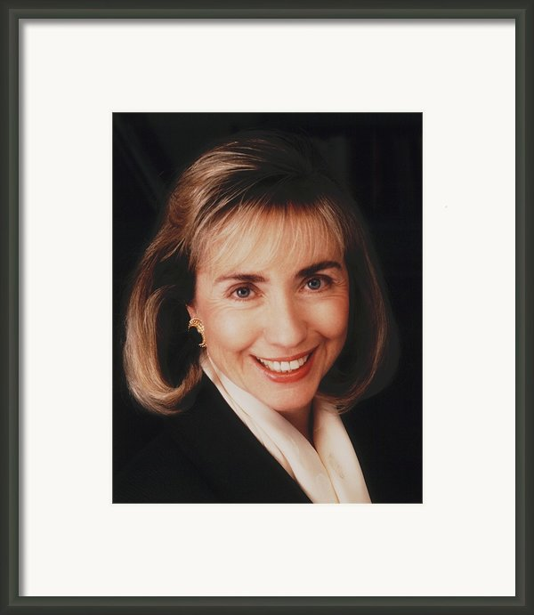 First Lady Hillary Clinton In A 1992 Framed Print By Everett