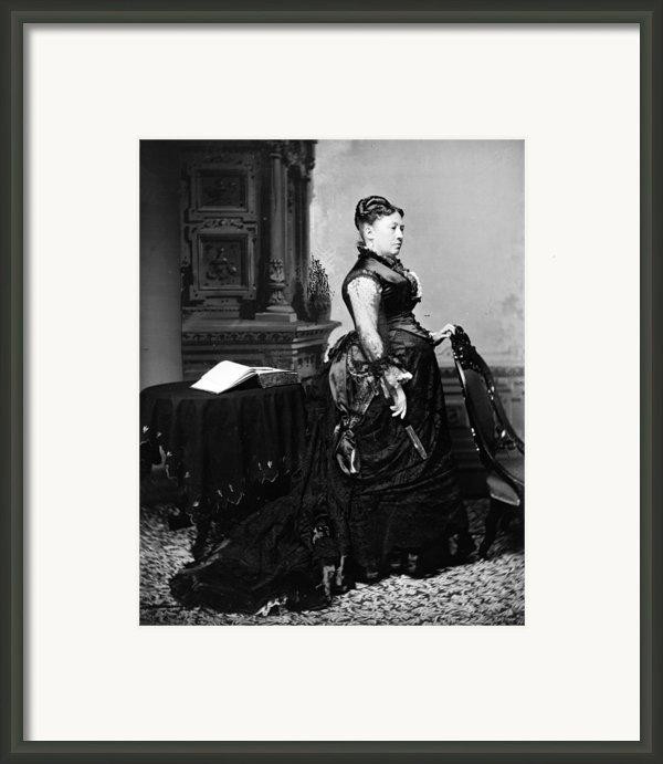 First Lady Julia Dent Grant, Wife Framed Print By Everett