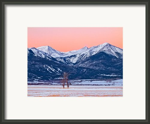 First Light In Wet Mountain Valley Framed Print By Paul Gana