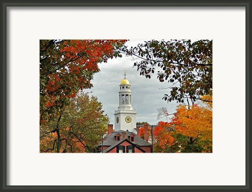 First Parish Church Framed Print By Joann Vitali