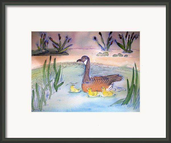 First Swim Framed Print By Brenda Bergen