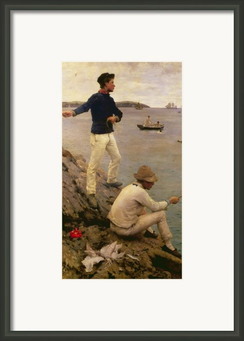 Fisher Boys Falmouth Framed Print By Henry Scott Tuke