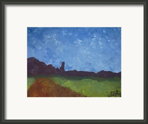 Fisher Towers Framed Print By Estephy Sabin Figueroa