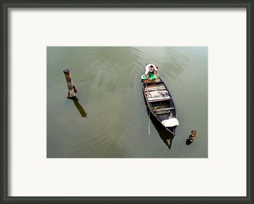 Fisherman And His Boat Framed Print By Pallab Seth