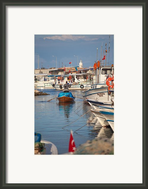 Fisherman At Yumurtalik Framed Print By Gabriela Insuratelu
