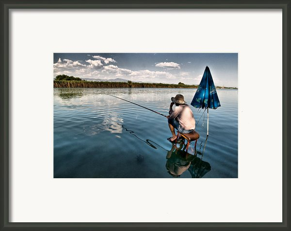 Fishing - 10 Framed Print By Okan Yilmaz