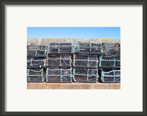 Fishing Baskets Framed Print By Tom Gowanlock