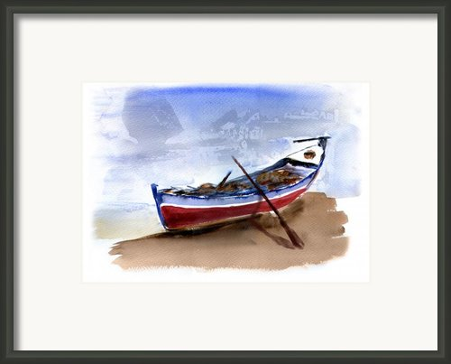 Fishing Boat Framed Print By Anselmo Albert Torres