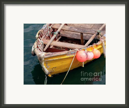 Fishing Boat Framed Print By Carlos Caetano