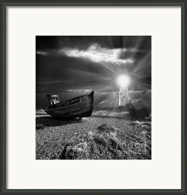 Fishing Boat Graveyard 7 Framed Print By Meirion Matthias