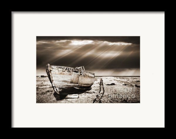 Fishing Boat Graveyard 9 Framed Print By Meirion Matthias