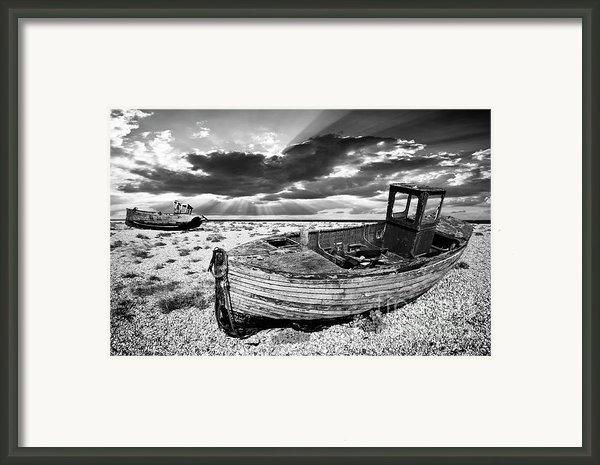 Fishing Boat Graveyard Framed Print By Meirion Matthias