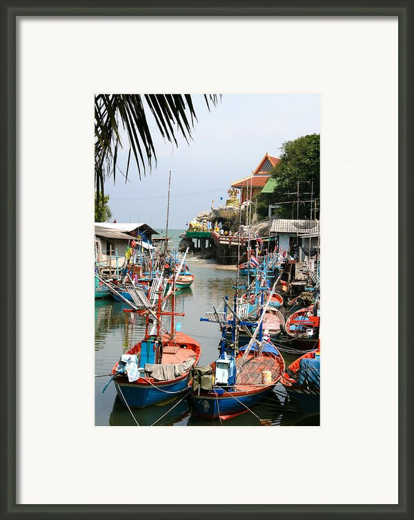 Fishing Boats Framed Print By Adrian Evans