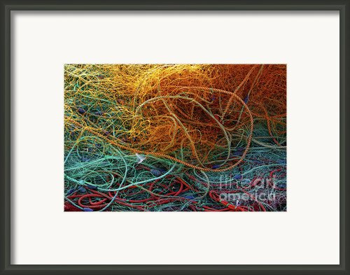 Fishing Nets Framed Print By Carlos Caetano