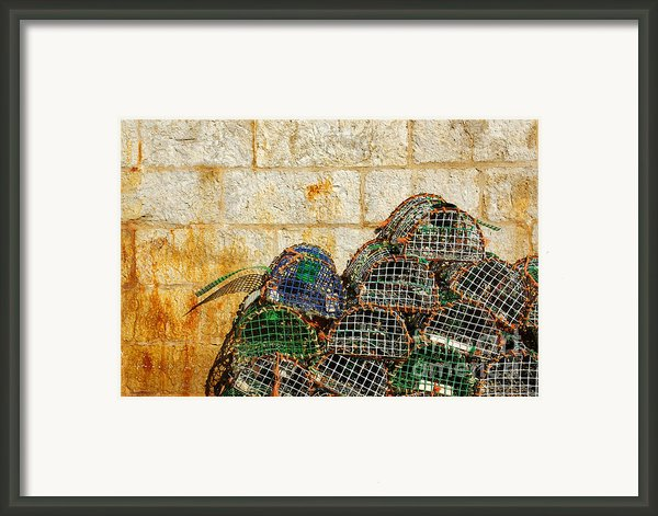 Fishing Traps Framed Print By Carlos Caetano