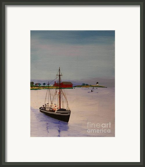 Fishing Vessel Superior Framed Print By Bill Hubbard