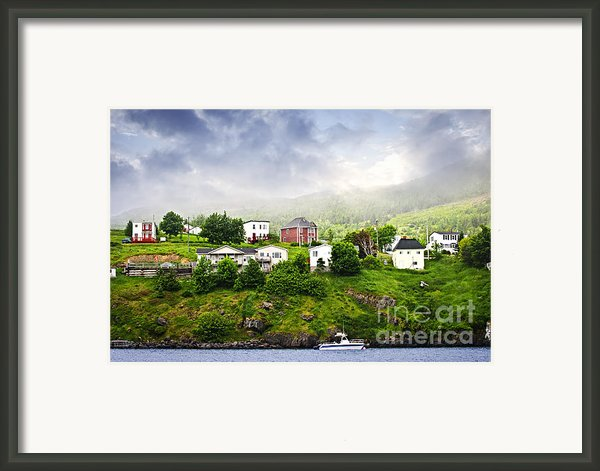 Fishing Village In Newfoundland Framed Print By Elena Elisseeva