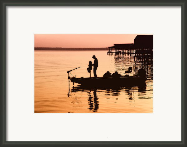Fishing With Daddy Framed Print By Bonnie Barry