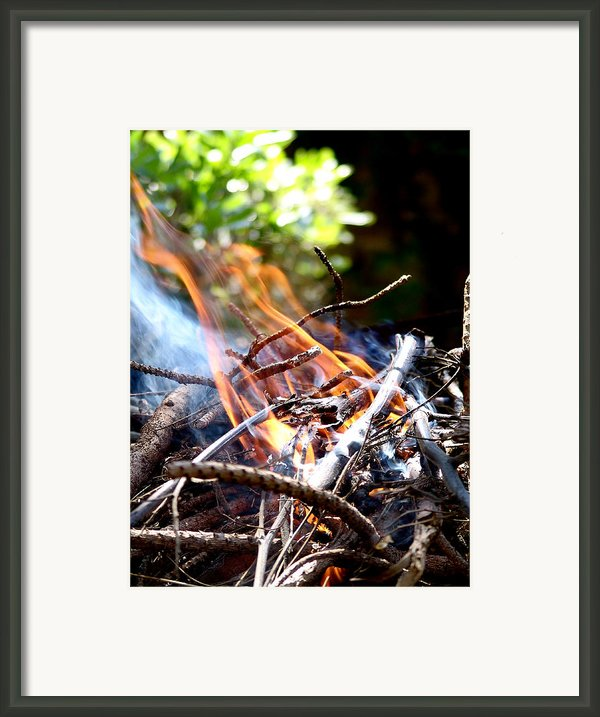 Flame Framed Print By Alessandro Della Pietra