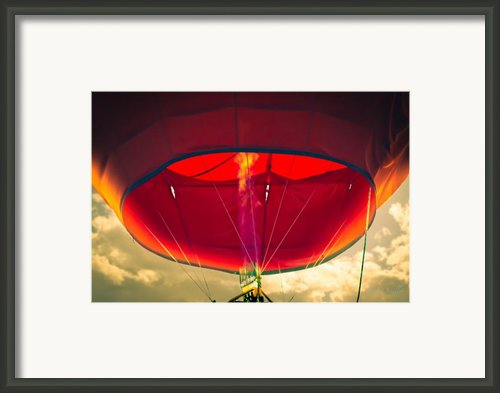 Flame On Hot Air Balloon Framed Print By Bob Orsillo