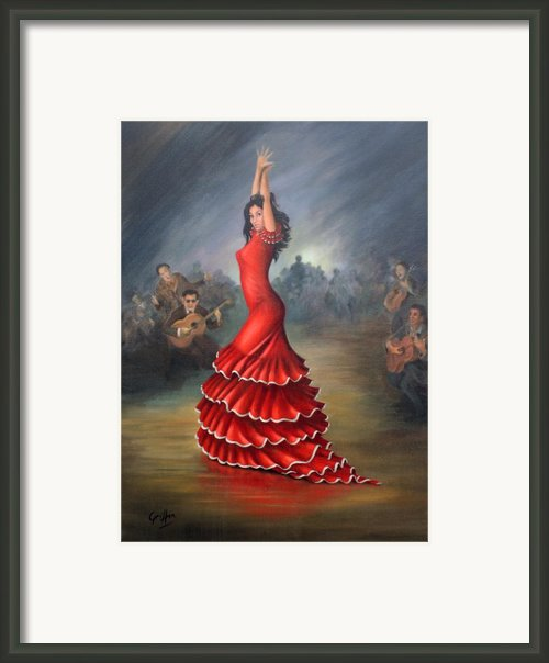 Flamenco Dancer Framed Print By Mai Griffin