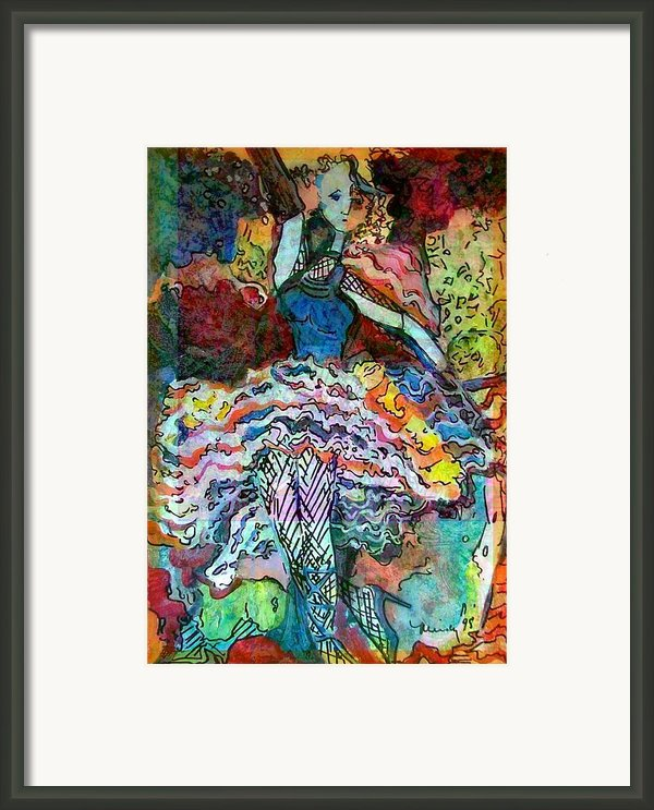Flamenco Dancer Framed Print By Mindy Newman