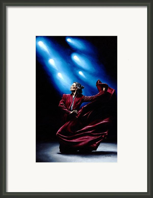 Flamenco Performance Framed Print By Richard Young