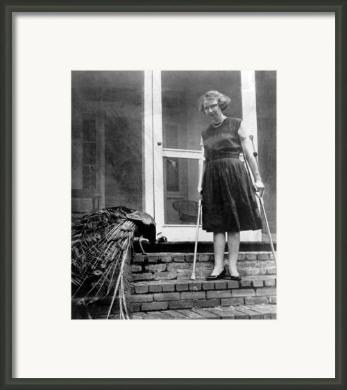 Flannery Oconnor 1925-1964, American Framed Print By Everett