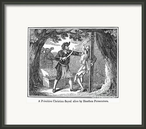 Flaying Of Christian Framed Print By Granger