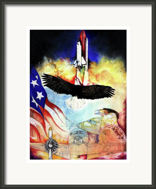 Flight Framed Print By Anthony Burks