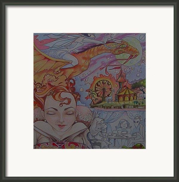 Flight Of Fancy Framed Print By Jackie Rock