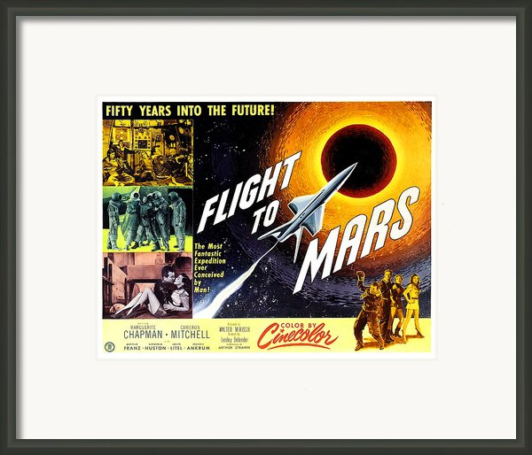 Flight To Mars, 1951 Framed Print By Everett