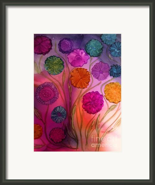 Floating Flowers Framed Print By Joyce Auteri