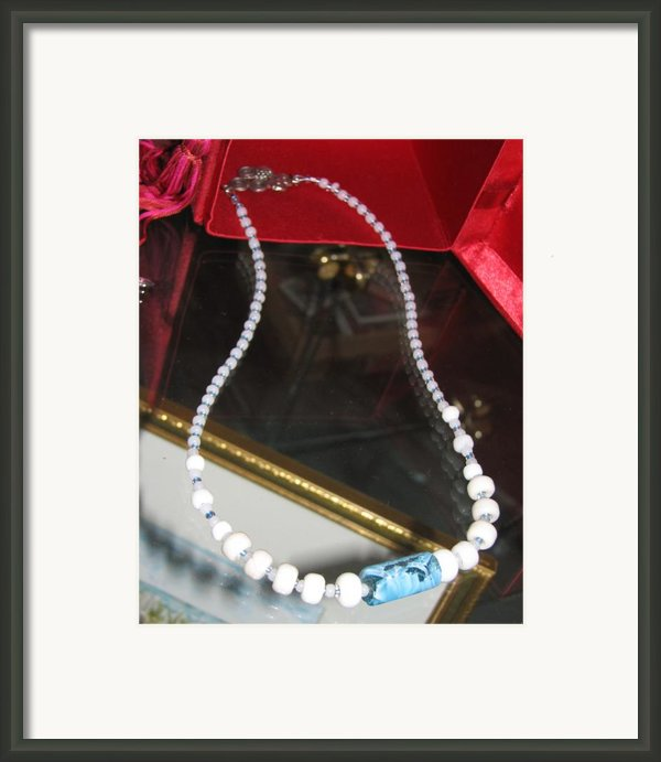 Floating Necklace Framed Print By Kelly Mezzapelle