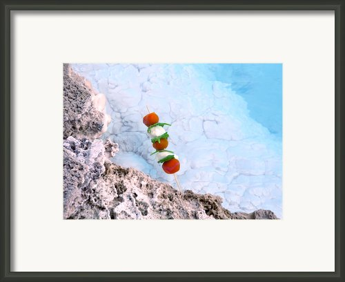 Floating Tomatoes Framed Print By Agusta Gudrun  Olafsdottir