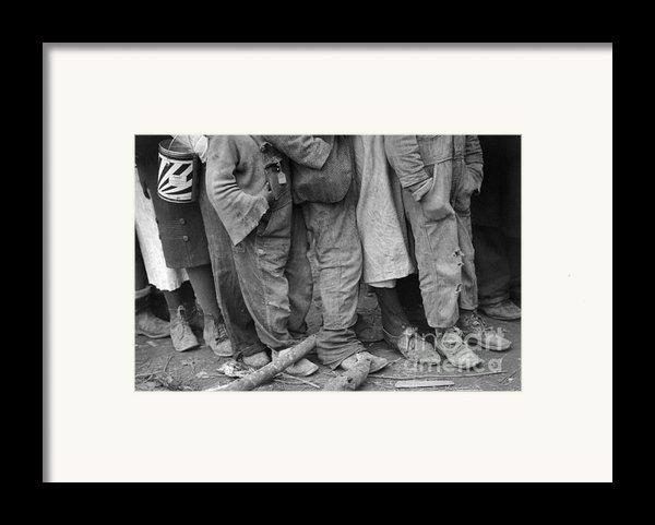 Flood Refugees, 1937 Framed Print By Granger