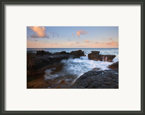 Flooding The Cracks Framed Print By Mike  Dawson