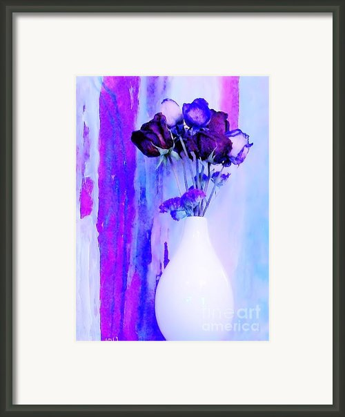 Floral Abstract Signed Framed Print By Marsha Heiken