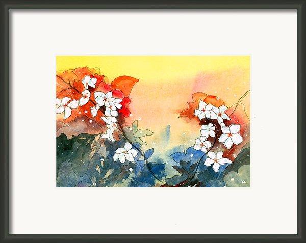 Floral Neklace Framed Print By Anil Nene