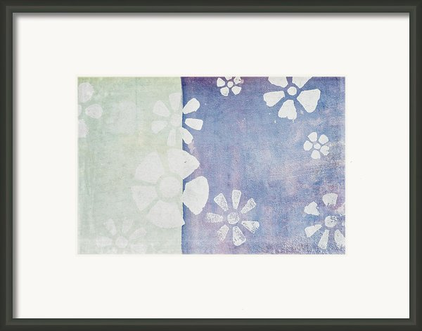 Floral Pattern On Old Grunge Wall Framed Print By Setsiri Silapasuwanchai
