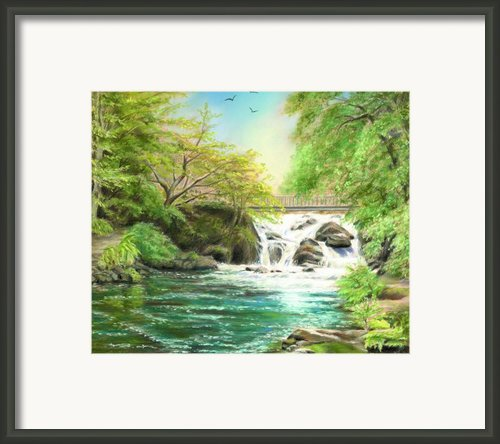 Flow Gently Framed Print By Vanda Luddy