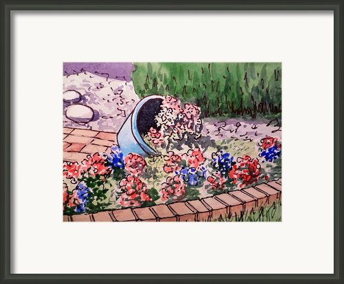 Flower Bed Sketchbook Project Down My Street Framed Print By Irina Sztukowski