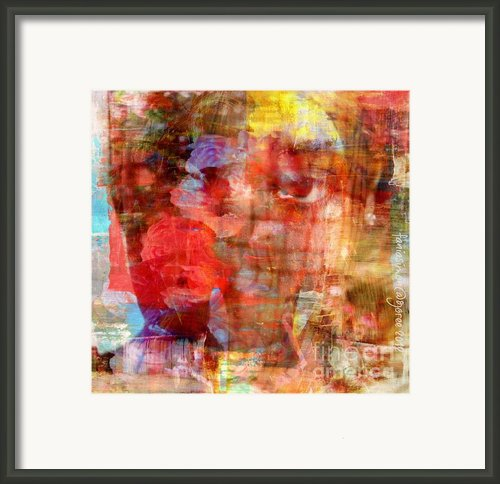 Flower Girll Framed Print By Fania Simon