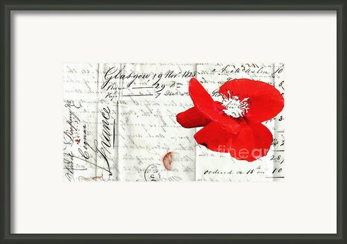 Flower Love Letter Framed Print By Adspice Studios