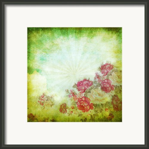 Flower Pattern On Paper Framed Print By Setsiri Silapasuwanchai