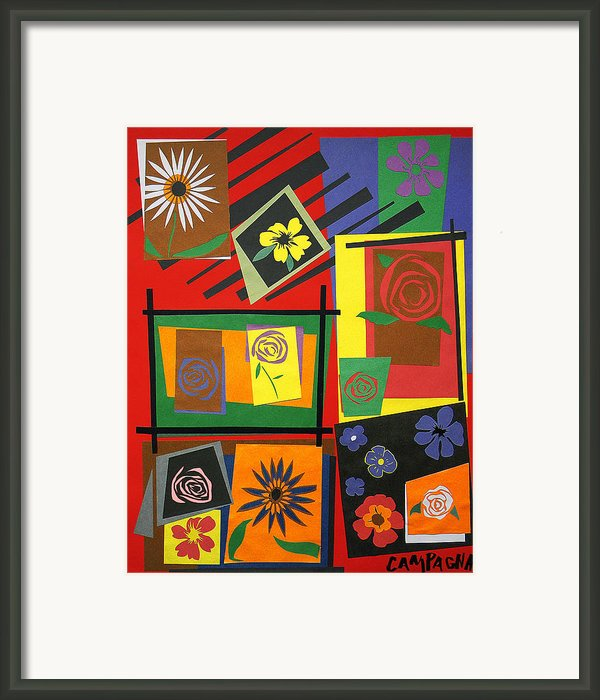 Flower Study 2 Framed Print By Teddy Campagna