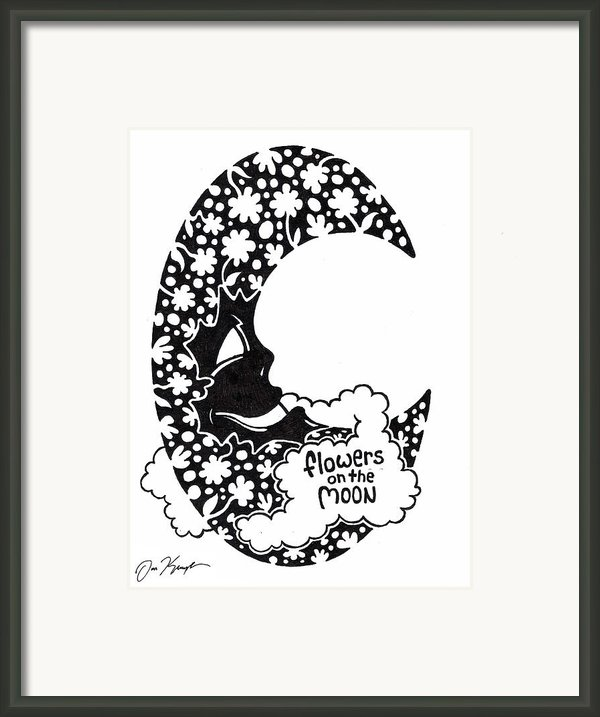 Flowers On The Moon Framed Print By Dan Keough